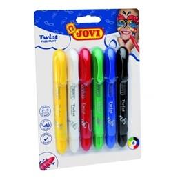 Jovi - Ansiktsfärg Vridbara Pennor Med 6 Färger