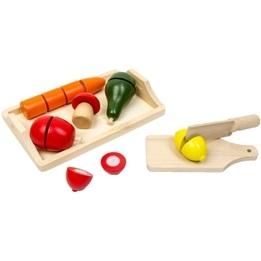 Woodi World Toy - Lekmat Morot, Citron, Svamp Och Skärbräda