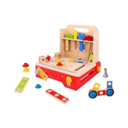 Tooky Toy - Hopfällbar Snickarbänk I Trä