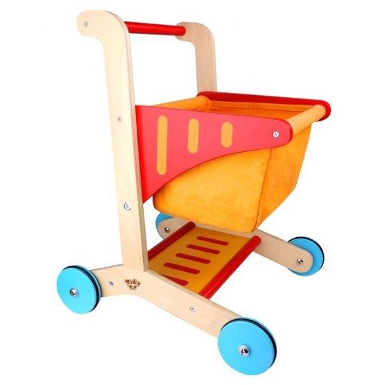 Tooky Toy - Kundvagn Leksak Till Barn I Trä Tooky Toy