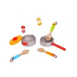 Tooky Toy - Kastruller Och Tillbehör Till Leksakskök
