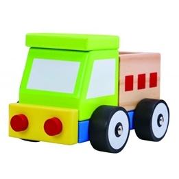 Tooky Toy - Leksaksbil Lastbil I Trä