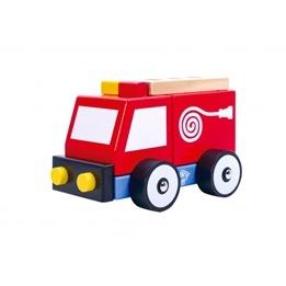 Tooky Toy - Brandbil Leksak I Trä
