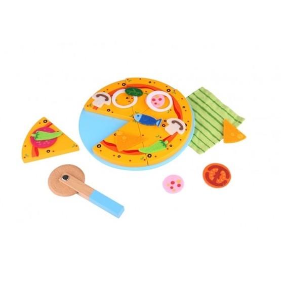 Tooky Toy - Delbar Pizza I Trä. Lekmat Tooky Toy