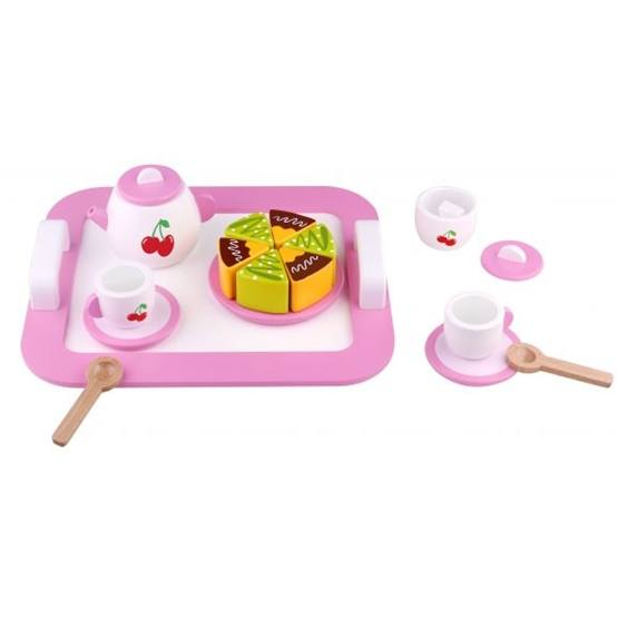 Tooky Toy - Teset Afternoon Tea I Trä Leksaksmat Tooky Toy