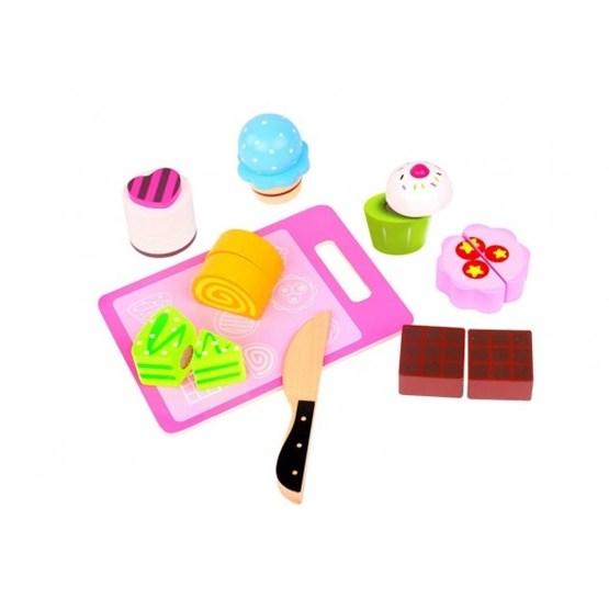 Tooky Toy - Delbar Leksaksmat, Kakor Och Muffins I Trä Tooky Toy