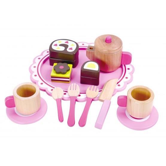 Tooky Toy - Teset Leksak I Trä Med Tillbehör Till Leksaksmat Tooky Toy