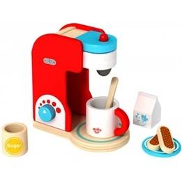 Tooky Toy - Espressomaskin - Kaffebryggare I Trä