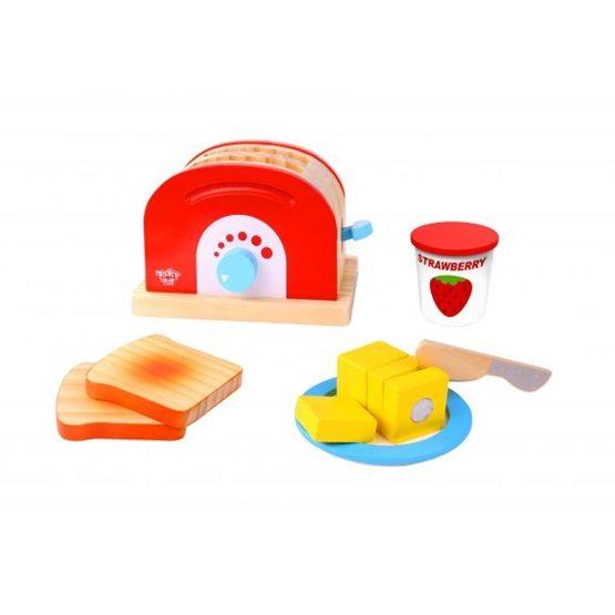 Tooky Toy - Brödrost Leksak I Trä Leksak För Barn Tooky Toy