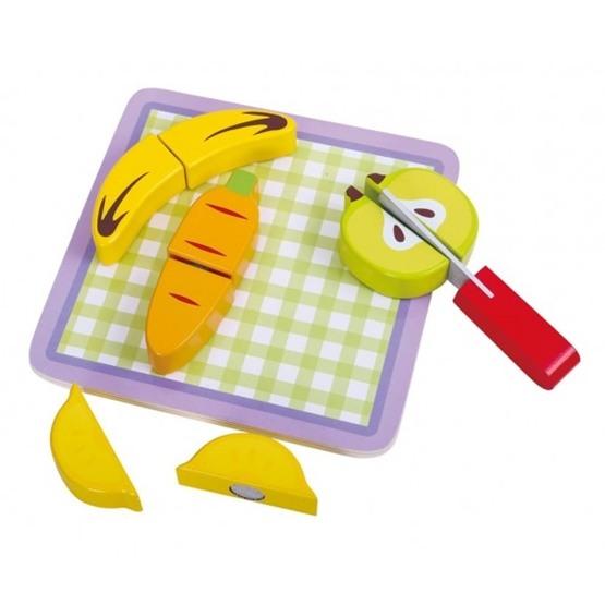 Tooky Toy - Delbara Frukter Och Grönsaker Med Skärbräda I Trä Tooky Toy