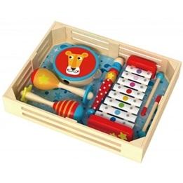 Tooky Toy - Musiklåda Med Maracas, Xylofon, Tamburin, Flöjt