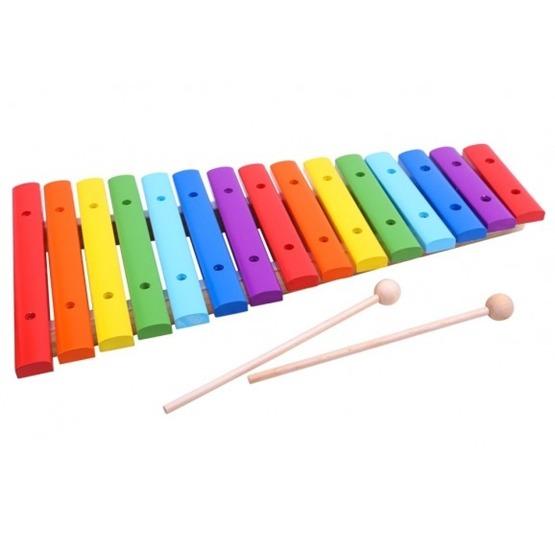 Tooky Toy - Xylofon I Trä Leksaksinstrument För Barn Tooky Toy