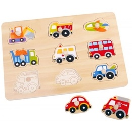 Tooky Toy - Pussel Med Figursågade Fordon
