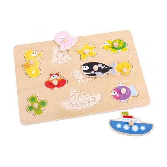 Tooky Toy - Pussel Med Fiskar Och Havsdjur