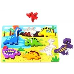 Tooky Toy - Figursågat Pussel Med Dinosaurier