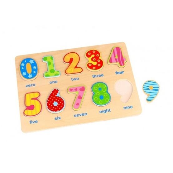 Tooky Toy - Träpussel Figursågade Siffror