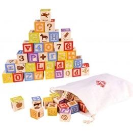 Tooky Toy - Byggklossar Alfabetet - 50 Delar