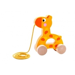 Tooky Toy - Dragleksak Giraff I Trä