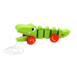 Tooky Toy - Dragleksak Krokodil I Trä