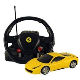 Rastar - Rastar Radiostyrd Bil Gul Ferrari 458 Italia Med Stor Ratt 1:14