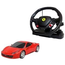 Rastar - Radiostyrd Bil - Röd Ferrari 458 Italia Med Ratt 1:14