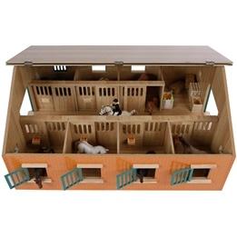 Kids Globe - Häststall Med 7 St Hästboxar - Skala 1:24