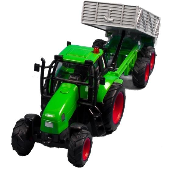Kids Globe - Traktor Med Släp. Kids Globe