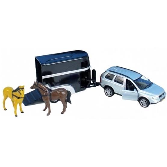 Kids Globe - Leksaksbil Volvo Xc90 Med Hästtrailer. Kids Globe.
