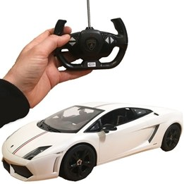 Rastar - Radiostyrd Vit bil Lamborghini Gallardo LP550-2 - 1:10
