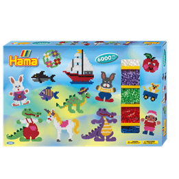 Hama, Midi Giant gift box 6000 st - Diverse