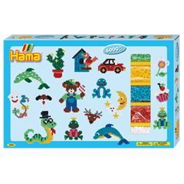 Hama, Midi Pärlor - Giant gift box 6000 st