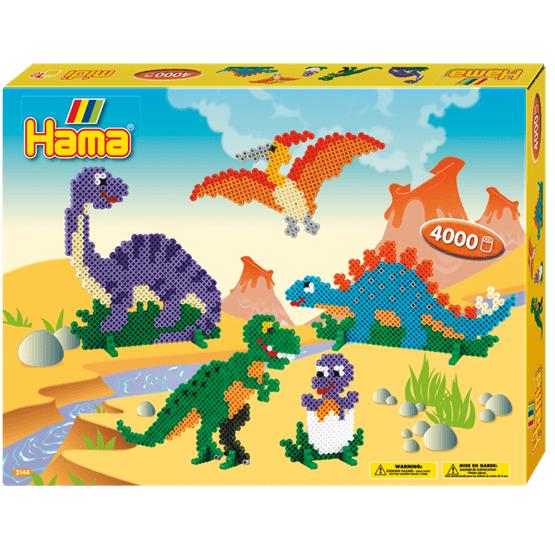 Hama, Midi Gift Box 4000 st - Dinosaurier