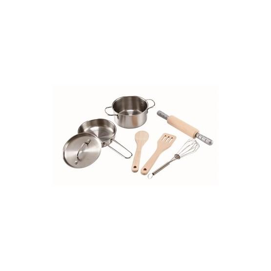 Hape, Kökstillbehör - Chef's Cooking kastrullset