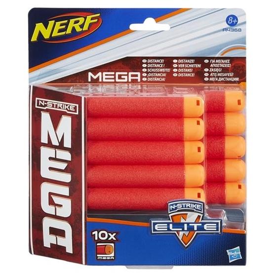 Nerf, N-Strike Elite Mega Dart Refill, 10-pack
