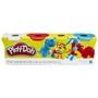 Play Doh, 4 st Klassiska Färger