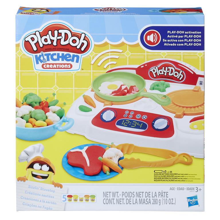 Play Doh Kitchen Sizzlin Stovetop Hasbro Litenleker Se