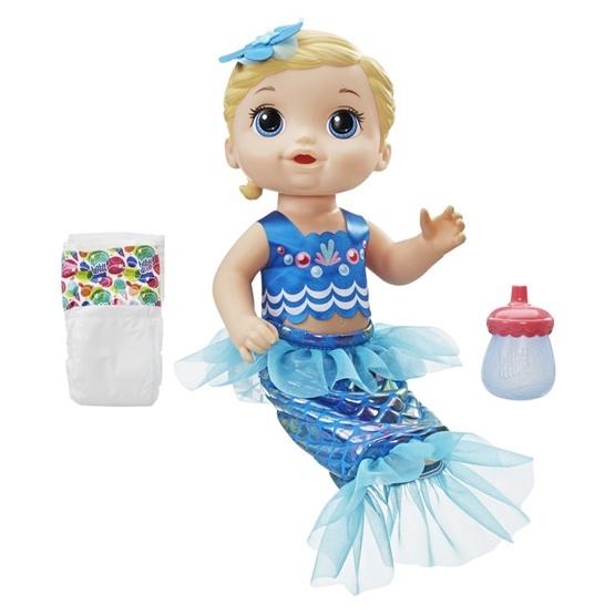 Baby Alive, Shimmer N Splash Sjöjungfru - Blå