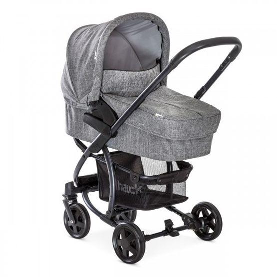 Hauck - Malibu 4 Duovagn Med Babyskydd - Grå Melange