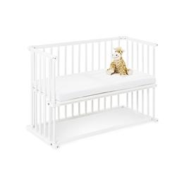 Pinolino - Bedside Crib med Madrass - Anja/Vit