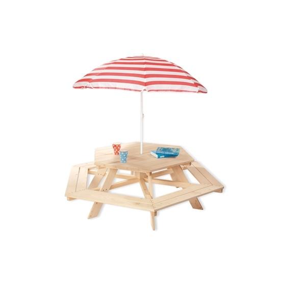 Pinolino - Barnträdgårdsmöbler Hexagonalt (6 pers) - Nicki