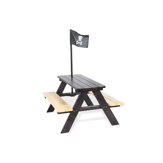 Pinolino - Barnträdgårdsmöbler Set (4 pers) - Nicki/Pirat/Obehandlad furu