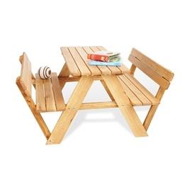 Pinolino - Barnträdgårdsmöbler Set med Ryggstöd (4 pers) - Lilli