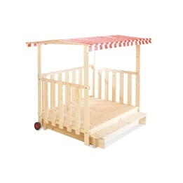 Pinolino - Sandlåda med Paviljong (133-251cmx150cm) - Carlotta/Furu