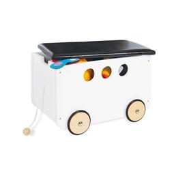 Pinolino - förvaringsbänk med hjul - Jim/Vit