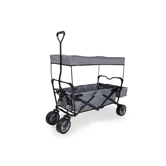 Pinolino - Dragvagn med Soltak Fällbar - Paxi/Svart/Grå