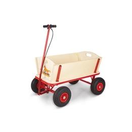 Pinolino - Dragvagn med Broms - Til/Obehandlat trä