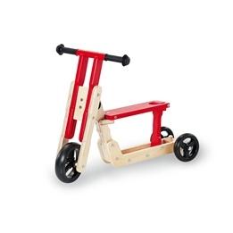 Pinolino - Kombi Sparkcykel - Springcykel - Theo/Natur-Röd