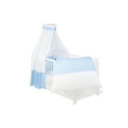 Pinolino - Textilset till Babysäng 4 delar - Vichy-Karo/Blå