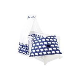 Pinolino - Textilset till Babysäng 4 delar,Happy Sheep/Blå