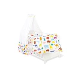 Pinolino - Textilset till Babysäng 4 delar,Happy Zoo